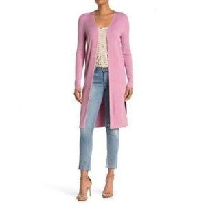 525 America Open Front Ribbed Long Line Sweater